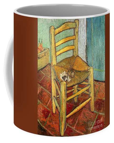 Impressionist Coffee Mug featuring the painting Vincent's Chair 1888 by Vincent van Gogh
