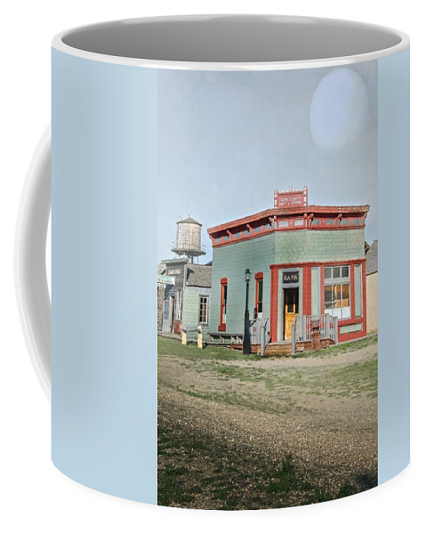 Vintage Coffee Mug featuring the photograph Vintage Bank by Judy Hall-Folde