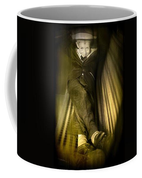 Boy Coffee Mug featuring the photograph Vintage Boy by Svetlana Sewell