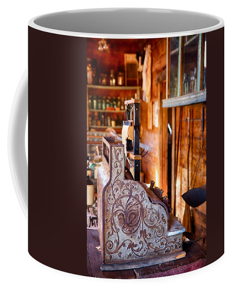 Cash Register Coffee Mug featuring the photograph Vintage Cash Register by Saija Lehtonen