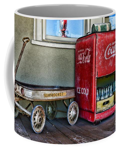 Paul Ward Coffee Mug featuring the photograph Vintage Coca-cola And Rocket Wagon by Paul Ward