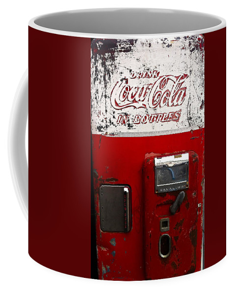 Coke Vending Machine Coffee Mug featuring the photograph Vintage Coca Cola by Denise Mazzocco