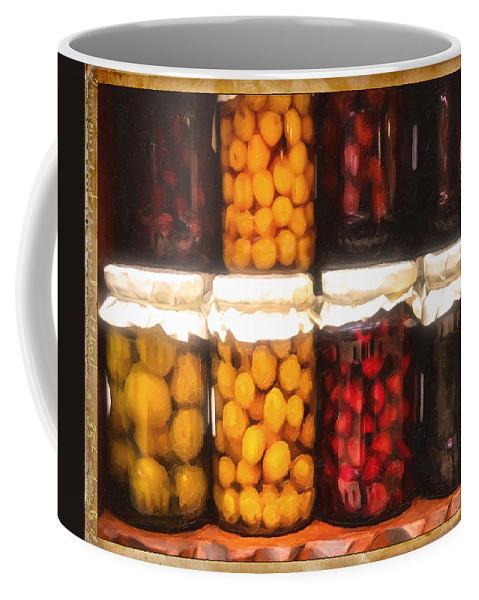 Vintage Coffee Mug featuring the photograph Vintage Fruit And Vegetable Preserves II by Georgiana Romanovna