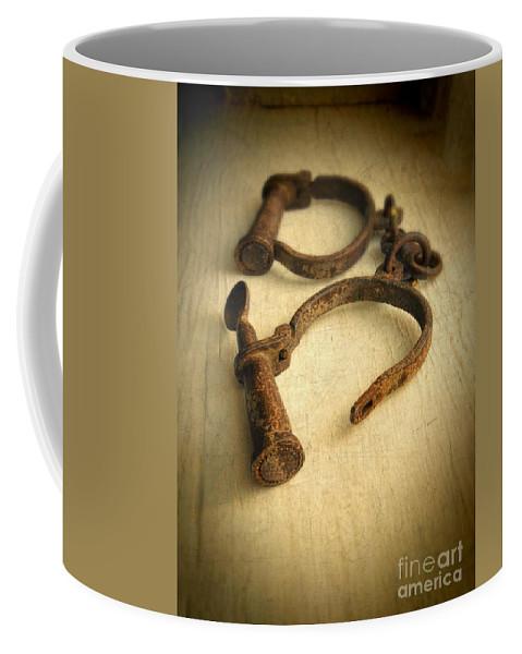 Handcuffs Coffee Mug featuring the photograph Vintage Handcuffs by Jill Battaglia