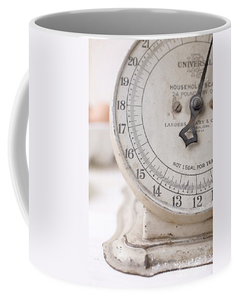 Kitchen Coffee Mug featuring the photograph Vintage Kitchen Scale by Edward Fielding