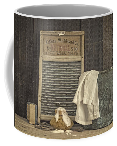 Laundry Coffee Mug featuring the photograph Vintage Laundry Room II By Edward M Fielding by Edward Fielding