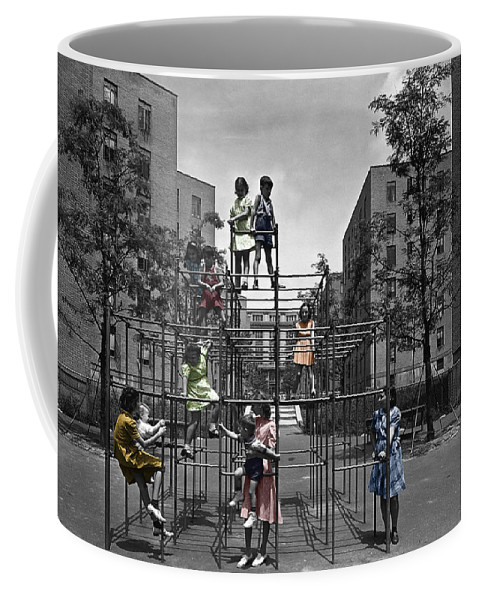 Playground Coffee Mug featuring the photograph Vintage Playground by Andrew Fare
