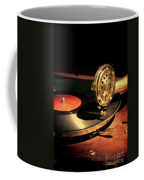 Vintage Coffee Mug featuring the photograph Vintage Record Player by Jill Battaglia