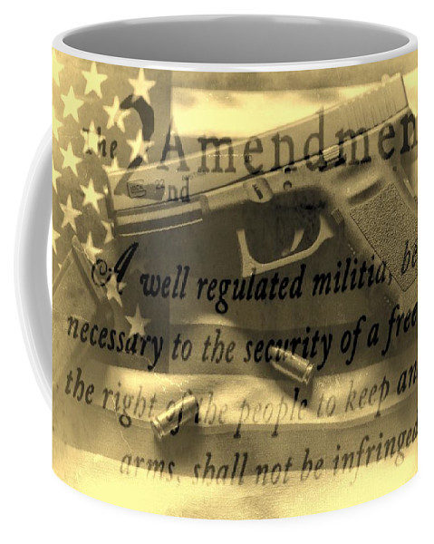 The 2nd Amendment Coffee Mug featuring the photograph Vintage Second Amedment by Dan Sproul