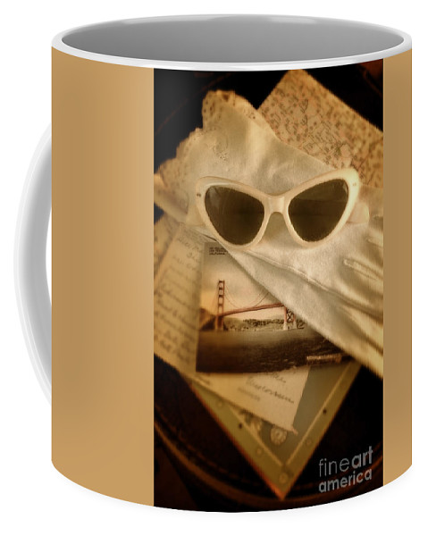 Sunglasses Coffee Mug featuring the photograph Vintage Travel by Jill Battaglia