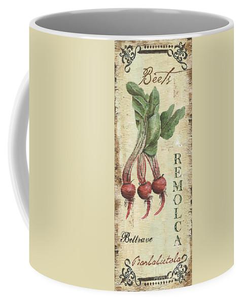 Kitchen Coffee Mug featuring the painting Vintage Vegetables 3 by Debbie DeWitt
