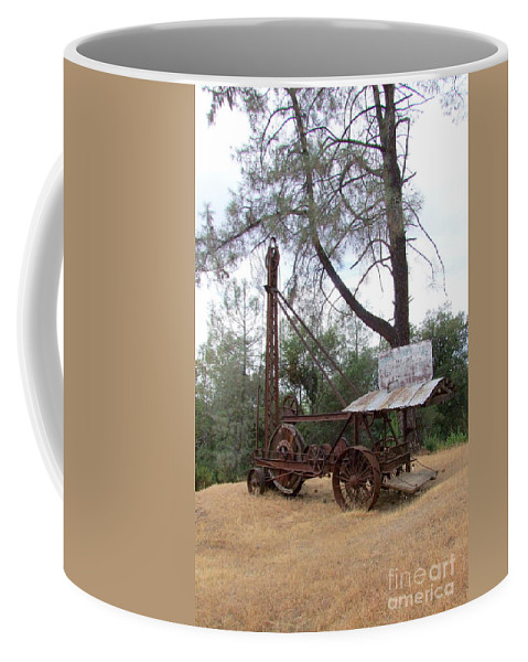 Well Driller Coffee Mug featuring the photograph Vintage Well Driller 2 by Mary Deal