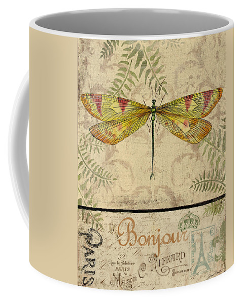 Digital Coffee Mug featuring the painting Vintage Wings-paris-e by Jean Plout