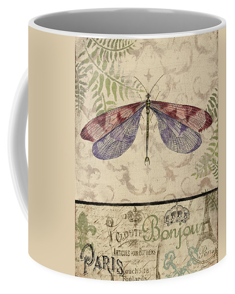 Digital Coffee Mug featuring the painting Vintage Wings-paris-f by Jean Plout
