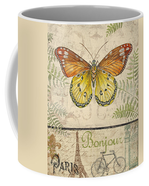 Digital Coffee Mug featuring the painting Vintage Wings-paris-l by Jean Plout