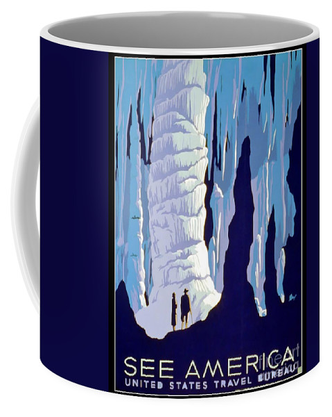 Cavern Coffee Mug featuring the photograph Vintage Wpa Poster See America by Edward Fielding