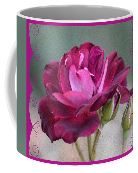 Violet Red Rose Coffee Mug featuring the photograph Violet Red Rose by Maria Urso