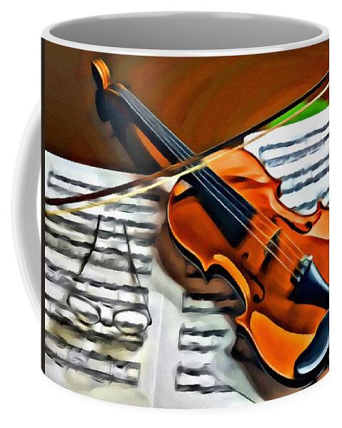 Violin Coffee Mug featuring the photograph Violin by Carlos Diaz
