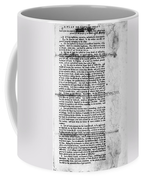 1776 Coffee Mug featuring the photograph Virginia: Constitution by Granger