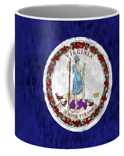Virginia Coffee Mug featuring the digital art Virginia Flag by World Art Prints And Designs