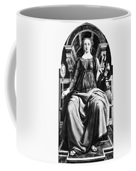 1470 Coffee Mug featuring the painting Virtues Prudence C1470 by Granger
