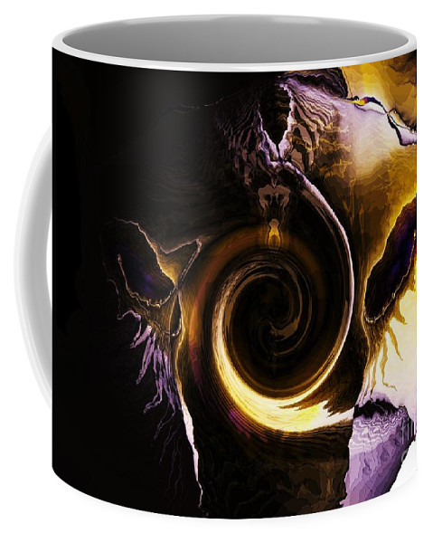 Visitor Coffee Mug featuring the digital art Visitor by Elizabeth McTaggart