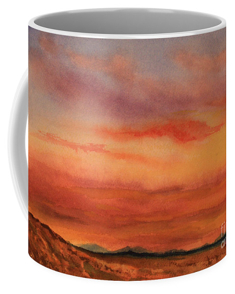 Roena King Coffee Mug featuring the painting Vivid Sunset by Roena King