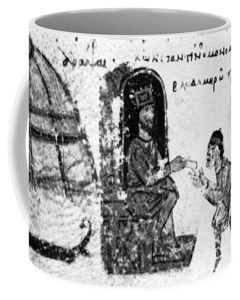 10th Century Coffee Mug featuring the painting Vladimir I Envoys by Granger