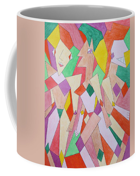 Abstract Coffee Mug featuring the painting Vogue by Barb Meade