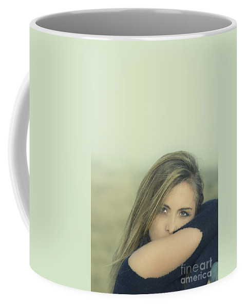 Alone Coffee Mug featuring the photograph Voice Of My Silence by Evelina Kremsdorf