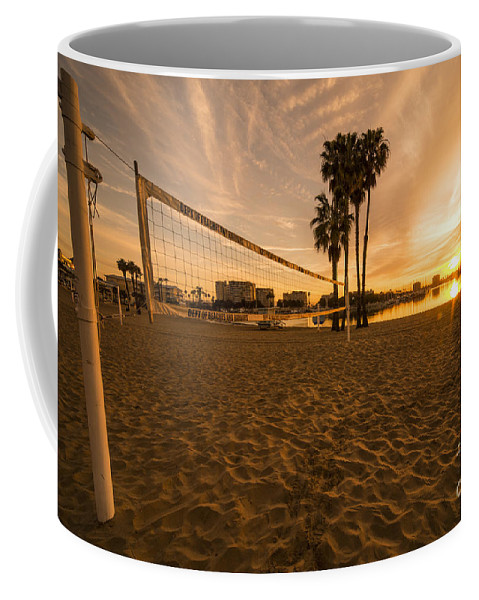 Coffee Mug featuring the photograph Volley Sunrise by Rob Hawkins