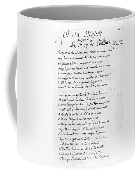 1740 Coffee Mug featuring the painting Voltaire Letter, 1740 by Granger