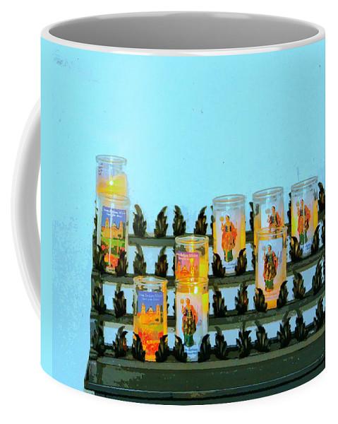 Santa Barbara Coffee Mug featuring the photograph Votives Santa Barbara by William Dey