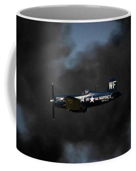3scape Coffee Mug featuring the photograph Vought F4u Corsair by Adam Romanowicz