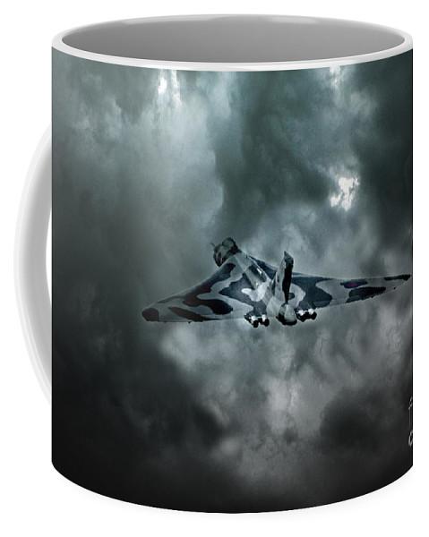 Vulcan Bomber Coffee Mug featuring the digital art Vulcan Storm by J Biggadike
