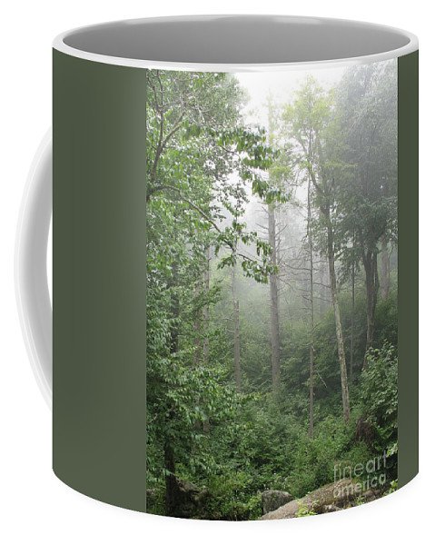 Mist Coffee Mug featuring the photograph Waft Of Mist - Shenandoah Park by Christiane Schulze Art And Photography