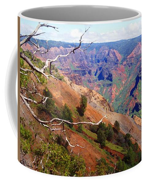Waimea Canyon Coffee Mug featuring the painting Waimea Canyon 1 by Ellen Henneke