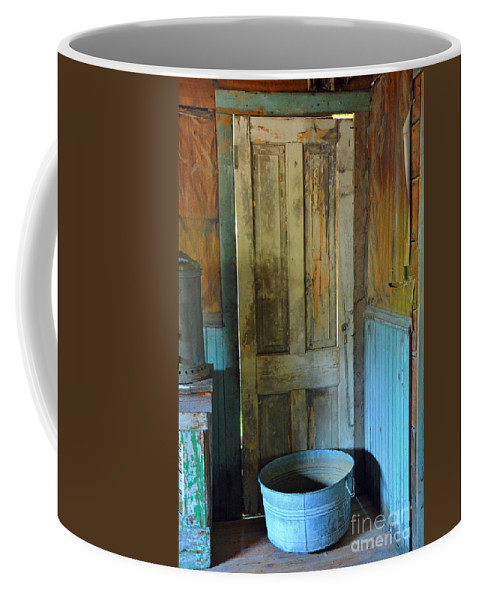 Abstract Coffee Mug featuring the photograph Waiting At The Back Door by Lauren Leigh Hunter Fine Art Photography
