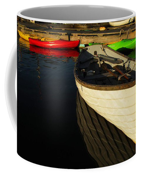 Boats Coffee Mug featuring the photograph Waiting At The Dock by Karol Livote