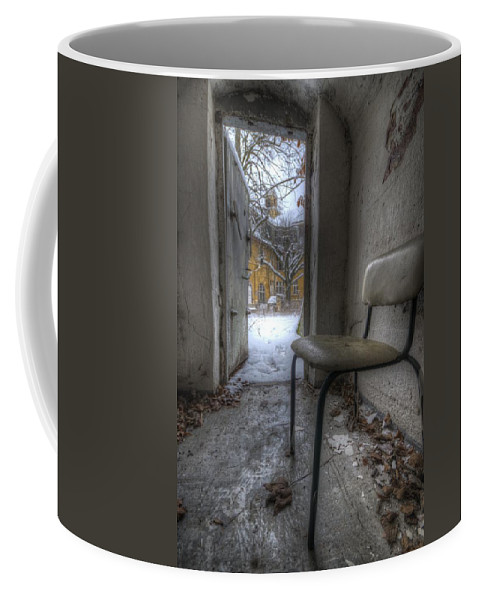 Old Coffee Mug featuring the digital art Waiting For The Cold War by Nathan Wright