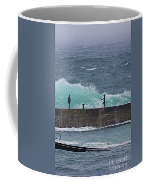 Breakwater Coffee Mug featuring the photograph Waiting For The Wave by Terri Waters