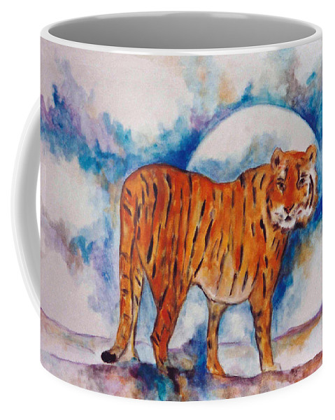 Moon Coffee Mug featuring the painting Waiting On The Moon by Lord Frederick Lyle Morris