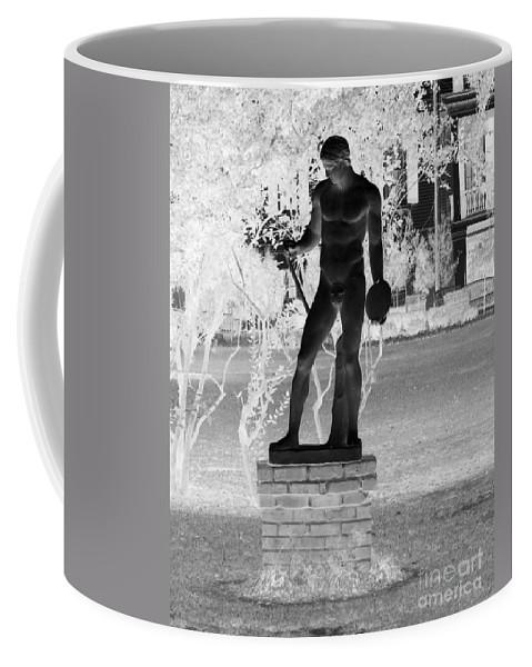 Greek Coffee Mug featuring the photograph Waiting To Throw by John W Smith III