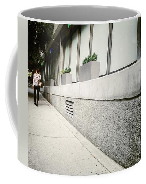 Street Coffee Mug featuring the photograph Walk Away by The Artist Project