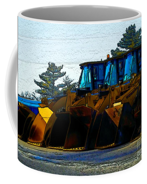 Plows Coffee Mug featuring the photograph Walk The Line by Robyn King
