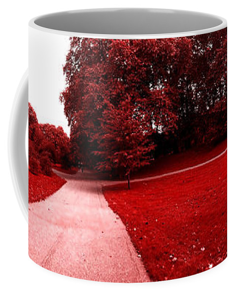 Photograph Mars Walk Walking Park Red Surreal Art Digital Panorama Nature Landscape Coffee Mug featuring the photograph Walking On Mars by Steve K
