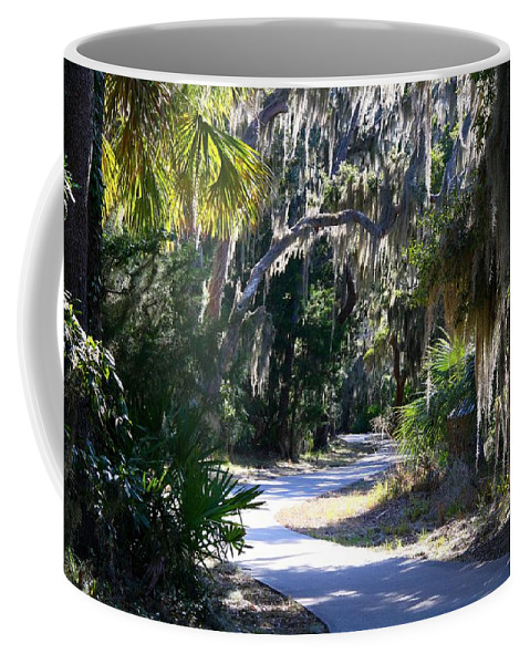 Path Coffee Mug featuring the photograph Walking Path by Kathryn Meyer