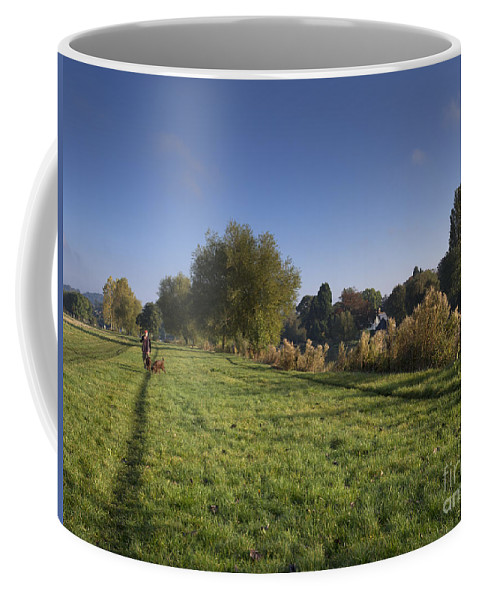 Thames Coffee Mug featuring the photograph Walking The Dogs by Louise Heusinkveld