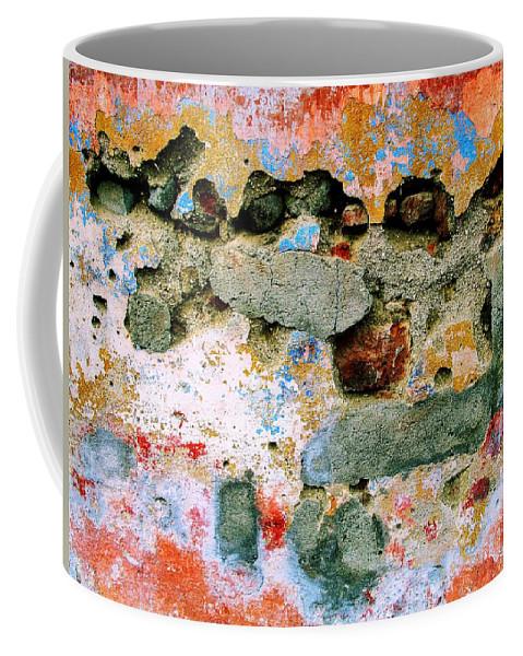 Texture Coffee Mug featuring the digital art Wall Abstract 15 by Maria Huntley