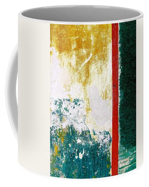 Texture Coffee Mug featuring the digital art Wall Abstract 71 by Maria Huntley